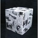Puff cuadrado cubo