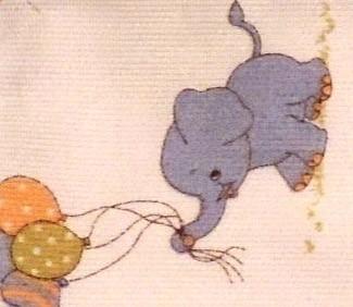Tela infantil elefants