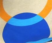 Tela circulos beige-azul