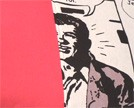 Tela franja vermell - comic