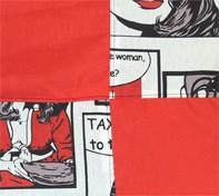 Tela quadres vermell - comic